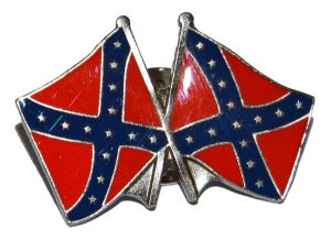 Large Crossed Confederate Flags Badge